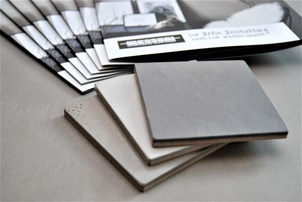 Musterstücke und Infomaterial Innenbereich